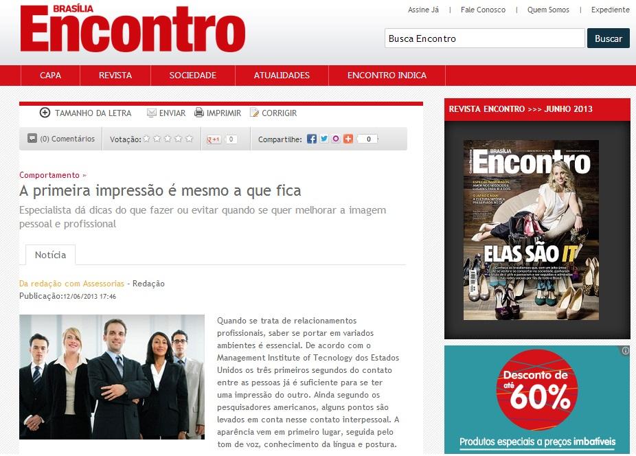 Portal Brasília Encontro - 12/06/2013 (http://bit.ly/12YACOS)