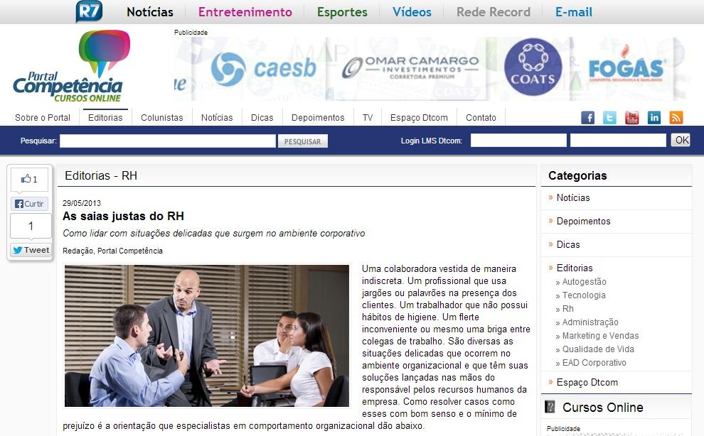 Portal Competência - 29/05/2013 (http://bit.ly/14bRK08)