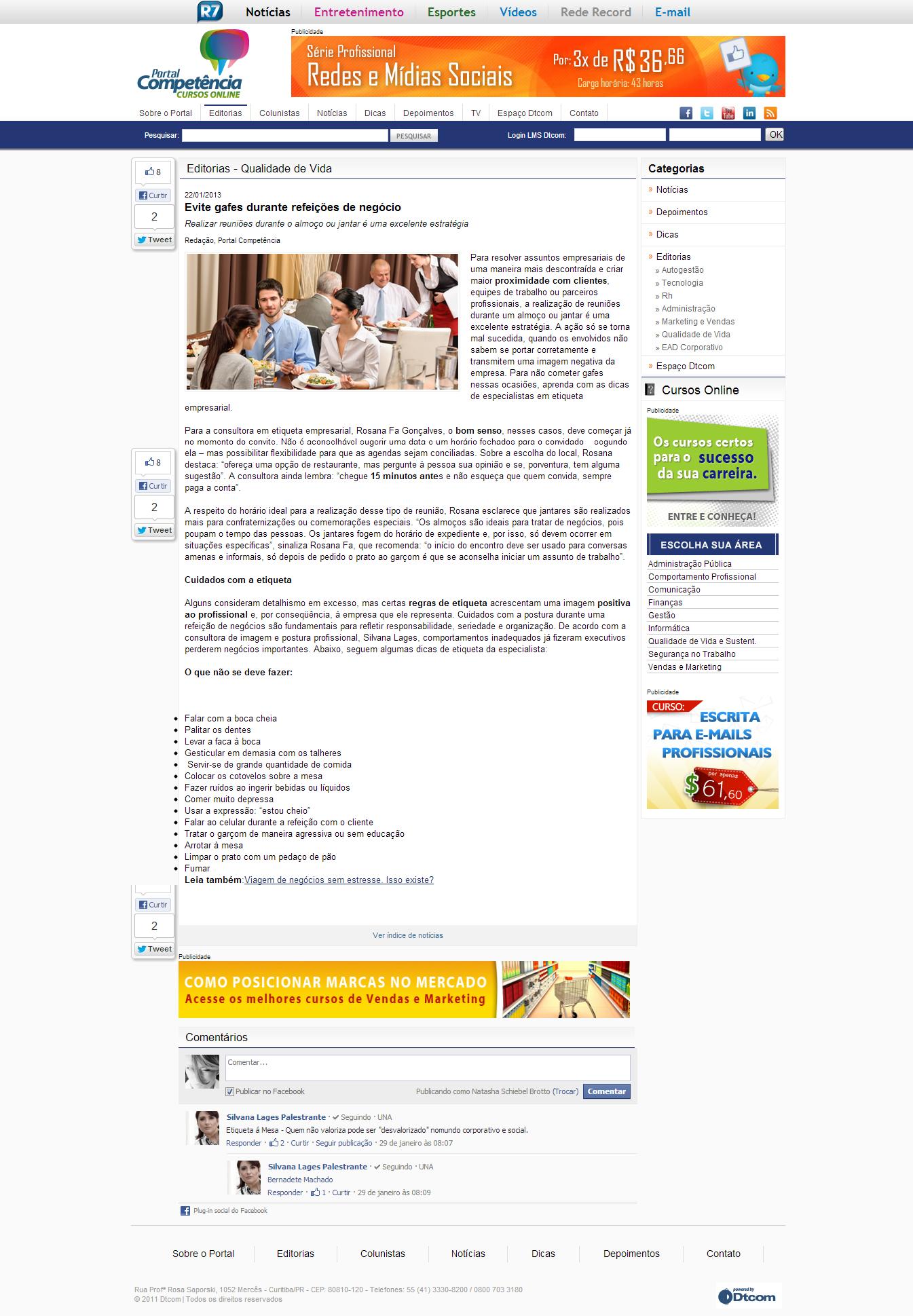 Portal da Competência - 22/01/2013 (http://bit.ly/ZtwdCW)