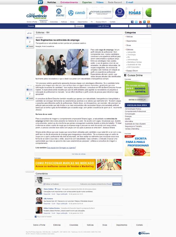 Portal da Competência - 15/01/2013 (http://bit.ly/Xyjjm0)