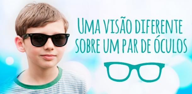 Uma visão diferente sobre um par de óculos