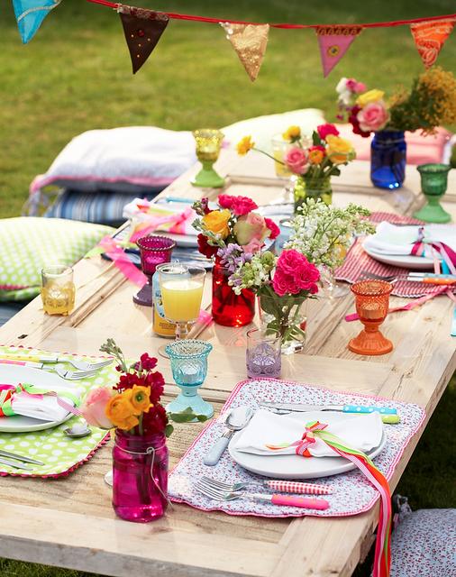 mesa colorida de ano novo