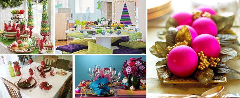 mesa de Natal - colorida
